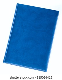 Blue diary book isolated