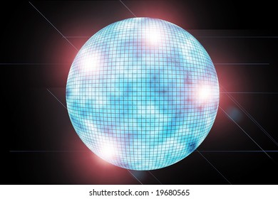 blue discoball