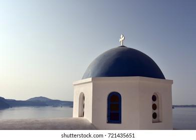 Blue Dome Over The Blue Sea