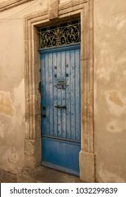 Blue door, Arles, France