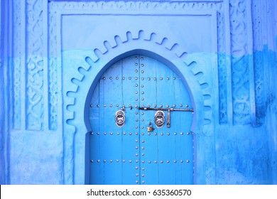 Blue door in Blue city Chefchaouen