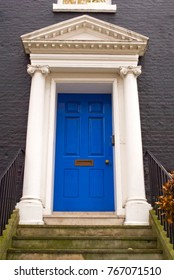 Blue door in London