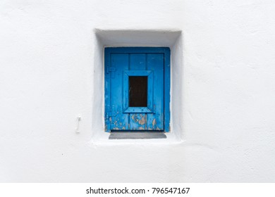 Blue Door Window