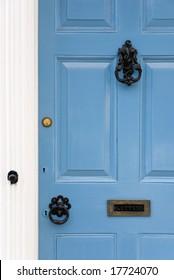Blue doors, Lavenham, Suffolk, England
