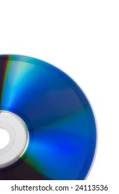 Blue DVD isolated