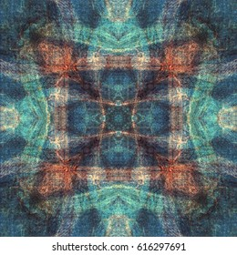 Blue dyed tapestry design