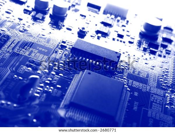 Blue electronic board