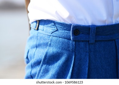 blue elegant trousers