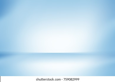 Blue empty room studio gradient used for background and display your product