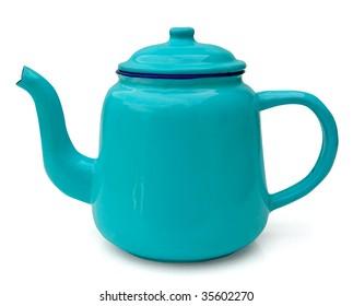 blue enamel tea/coffee pot