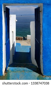 blue entrance in Rovenska, island Losinj, Croatia