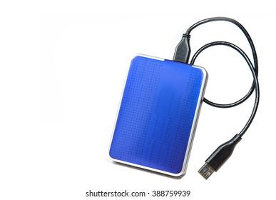 Blue External Hard drive