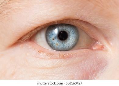 Blue eye of female