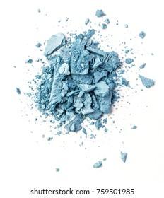 Blue eye shadow isolated on white background