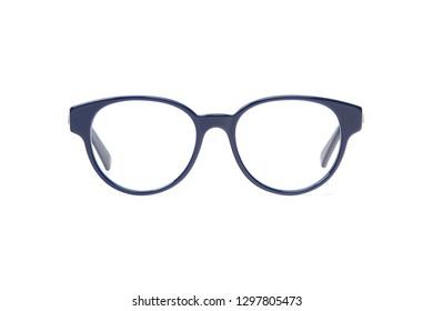 e04ef85461 Blue eyeglasses in round frame transparent for reading or good vision