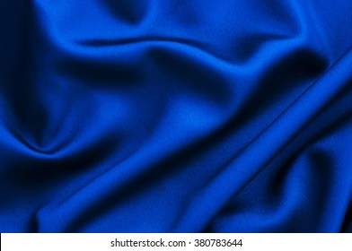Blue fabric close up background