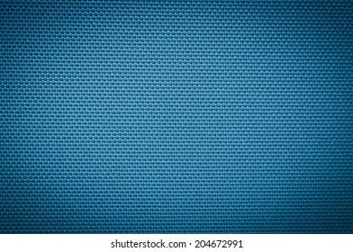 blue fabric texture. coarse canvas background - closeup pattern