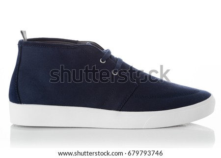 055e12baba1 Blue Fashion Mens Shoes Side View Stock Photo (Edit Now) 679793746 ...