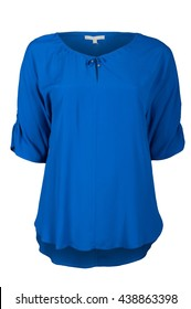 Blue female blouse