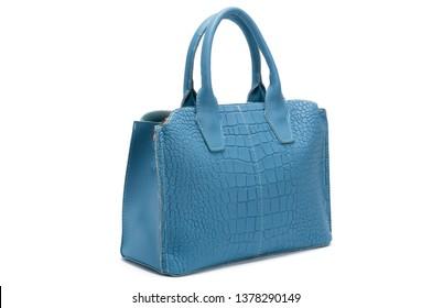 Blue female handbag
