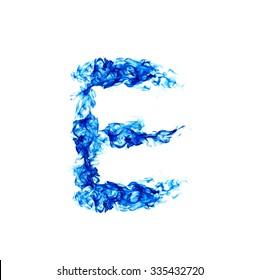 Blue Fire letter E.