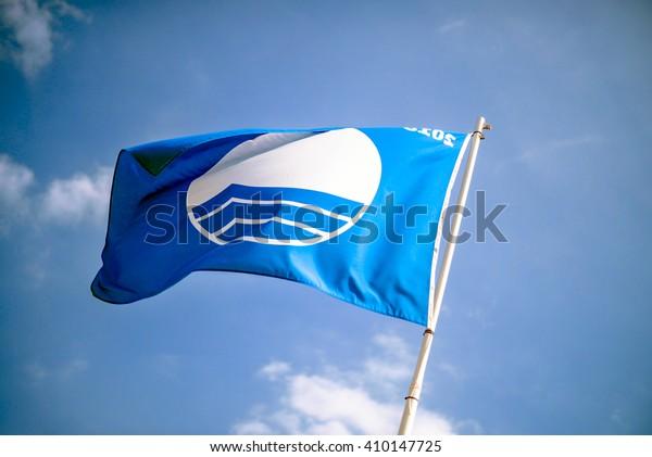 Blue flag beach of Sa Caleta, Spain