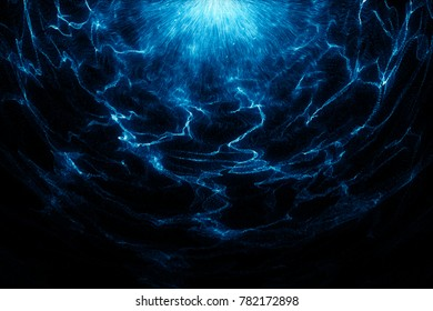 The blue flame special background, the shape of the burning