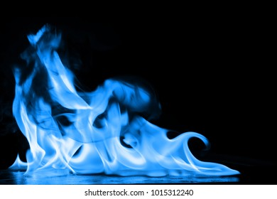blue flames of fire as abstract backgorund