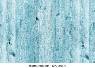 Blue flat wooden background of a single piece of wood