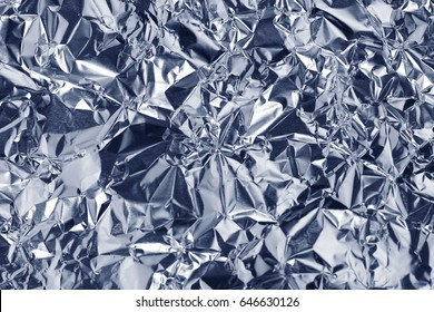 Blue foil with shiny surface for background