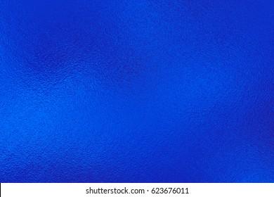 Blue foil texture, metal background