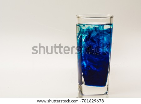 Blue Food Coloring Diffuse Water Inside Stock Photo (Edit Now ...
