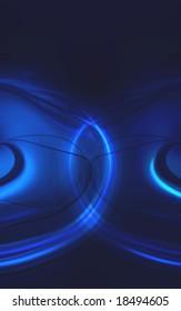 blue fractal design