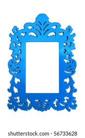 Blue Frame, Empty and Blank for your copy