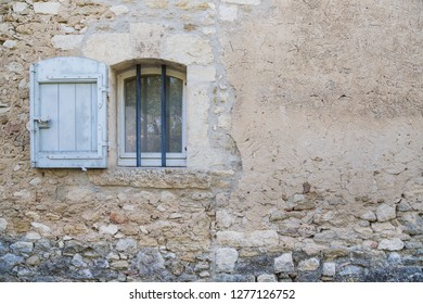 Blue french windows and doors in Provence, France