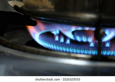 Blue Gas Flame for Stove