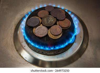 Blue gas stove