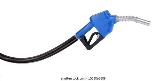 Blue gasoline pistol pump gun fuel nozzle