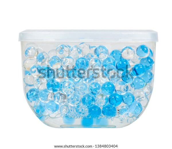 Blue Gel Fragrance Air Freshener Bathroom Stock Photo Edit