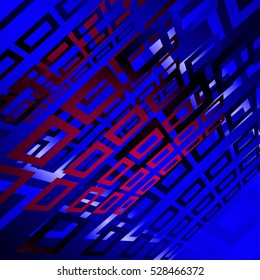 blue geometric background with rectangles
