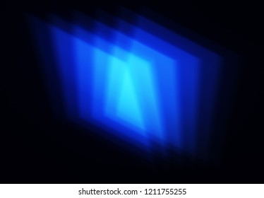 Blue geometry blur shapes background
