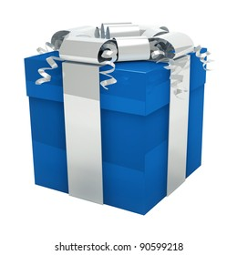 Blue gift box for him