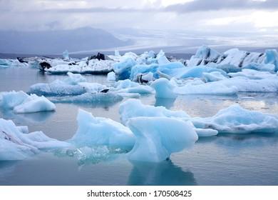 Blue glacier lagoon, Iceland
