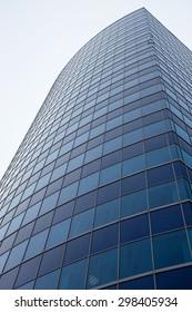 blue glass modern business center