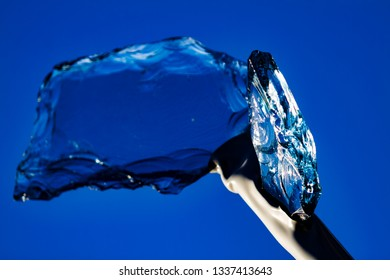 Blue glass, spear