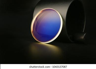 Blue glasses lens
