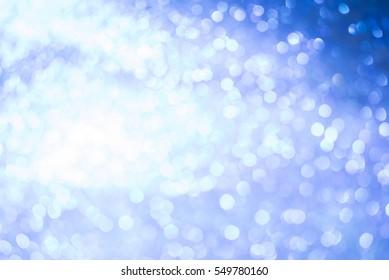 blue glitter bokeh light twinkling background