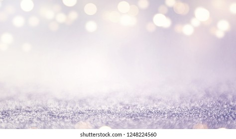 Blue glitter and gold lights bokeh abstract background. defocused, holiday concept