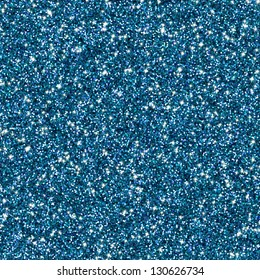 Blue glitter for texture or background