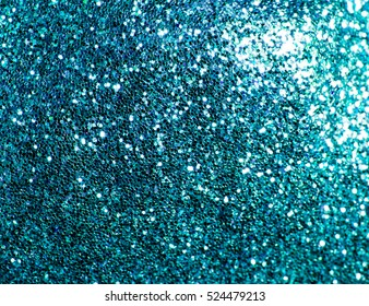 Blue glitter texture  background. Abstract.